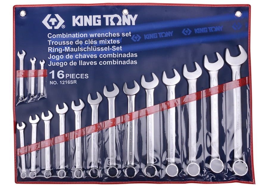 16件式 複合扳手組 | KING TONY | 1216SR