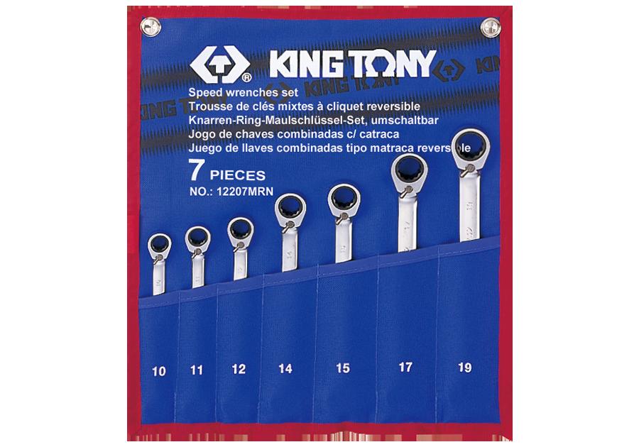 7件式 雙向快速棘輪扳手組  KING TONY  12207MRN, 永安實業工具購物網