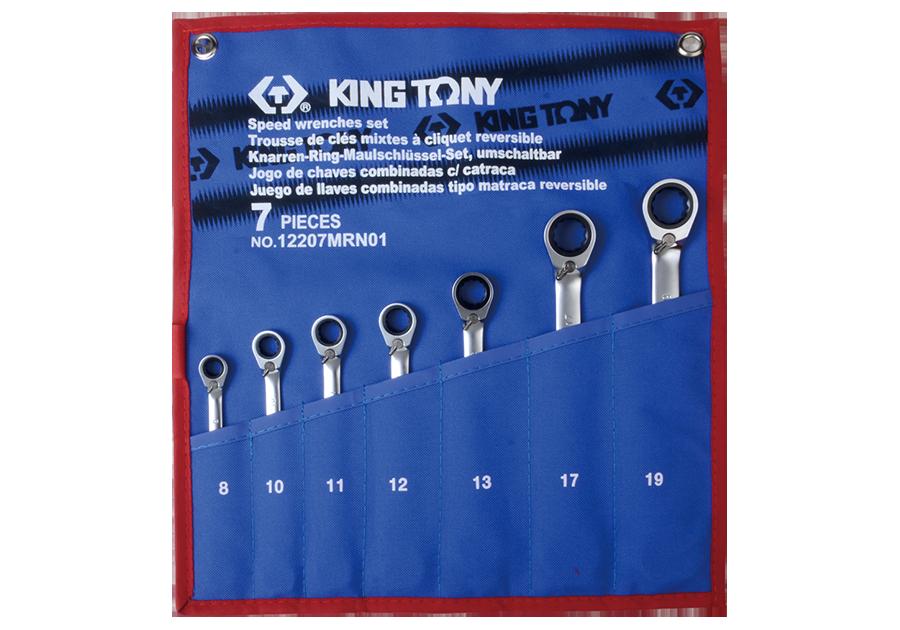 7件式 雙向快速棘輪扳手組  KING TONY  12207MRN01, 永安實業工具購物網