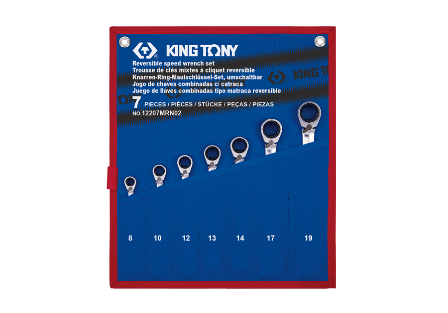 7 PC. Reversible Speed Wrench Set  KING TONY  12207MRN02