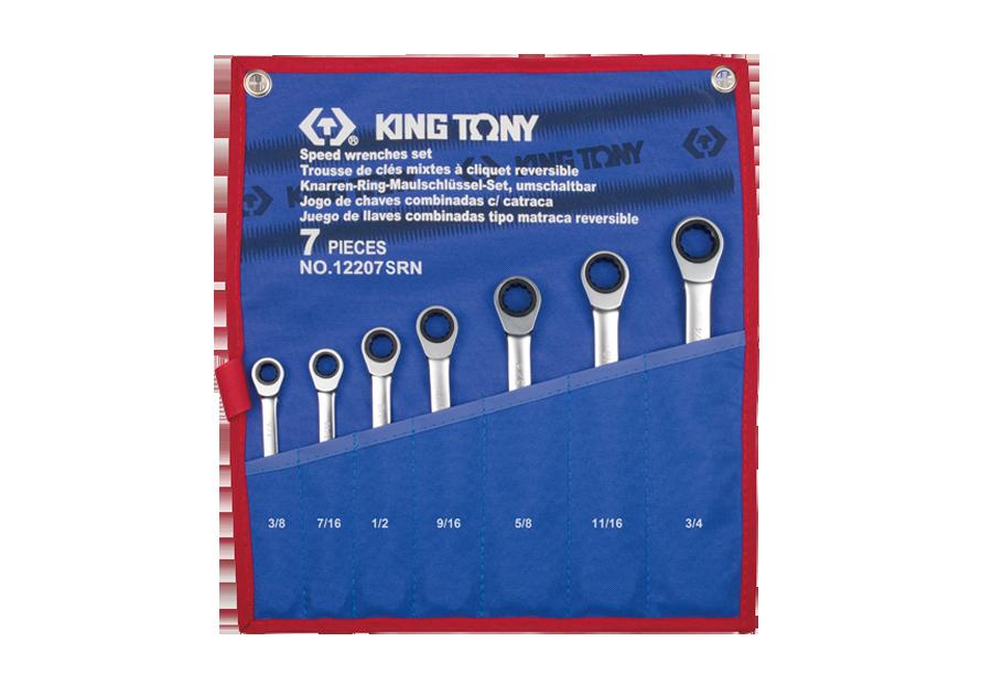 7件式 雙向快速棘輪扳手組  KING TONY  12207SRN, 永安實業工具購物網