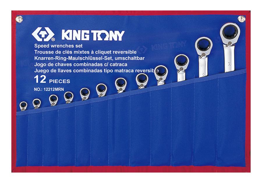 12件式 雙向快速棘輪扳手組  KING TONY  12212MRN, 永安實業工具購物網
