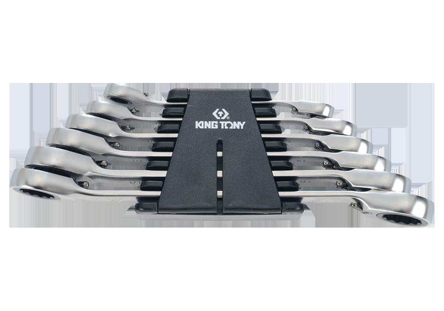 6件式 雙梅單向快速棘輪扳手組  KING TONY  12706MR, 永安實業工具購物網