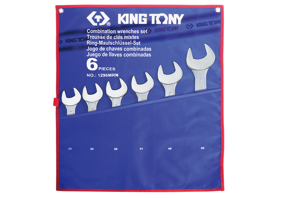 6件式 大型複合扳手組 | KING TONY | 1296MRN