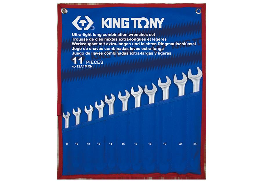 11件式 加長型輕量化複合扳手組 | KING TONY | 12A1MRN