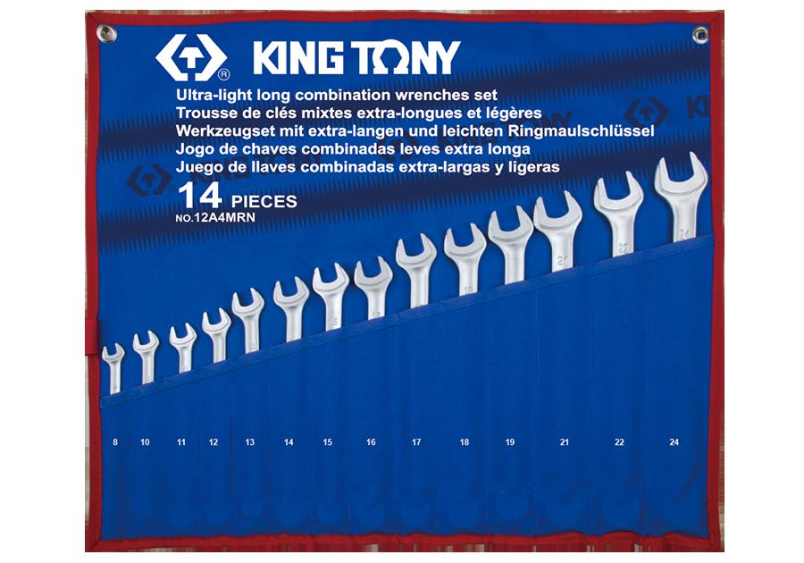 14件式 加長型輕量化複合扳手組 | KING TONY | 12A4MRN