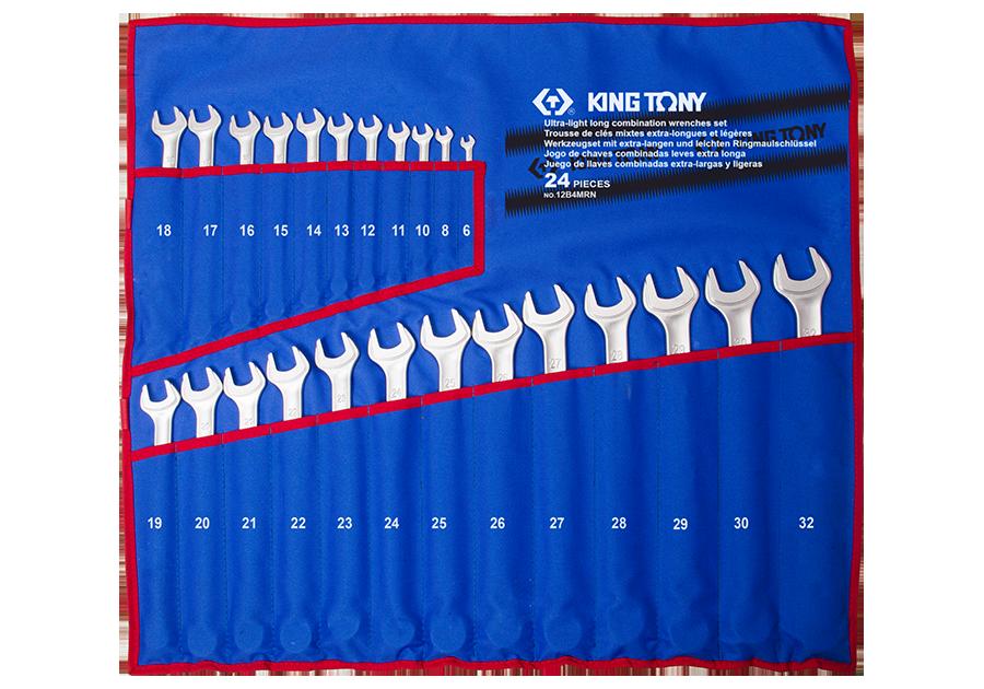 24件式 加長型輕量化複合扳手組 | KING TONY | 12B4MRN