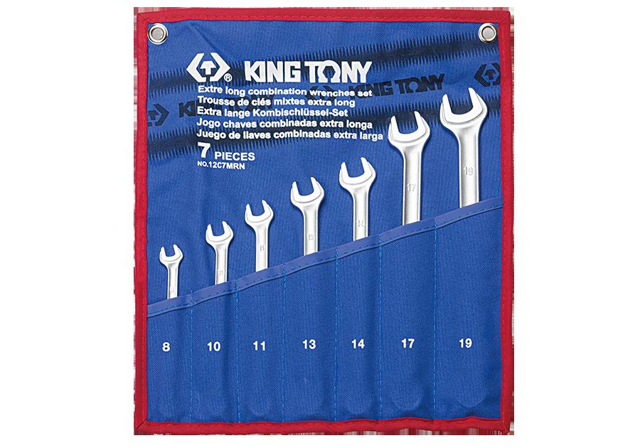 7件式 加長型輕量化複合扳手組 | KING TONY | 12C7MRN