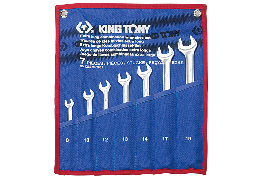 7 PC. Ultra-Light Long Combination Wrench Set  KING TONY  12C7MRN01