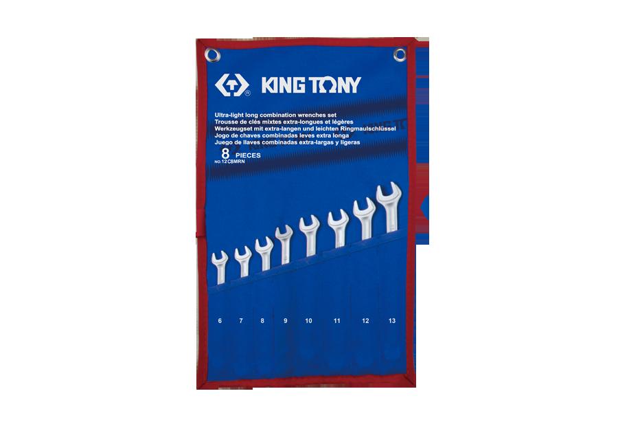 8件式 加長型輕量化複合扳手組  KING TONY  12C8MRN, 永安實業工具購物網