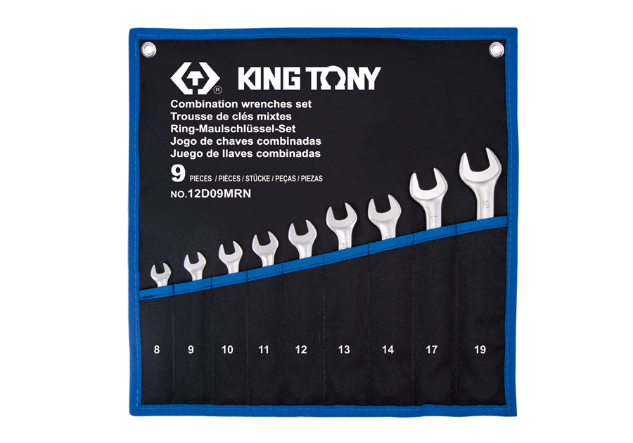 9 PC. Combination Wrench Set  KING TONY  12D09MRN
