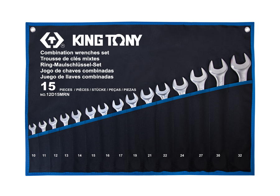 15 PC. Combination Wrench Set  KING TONY  12D15MRN