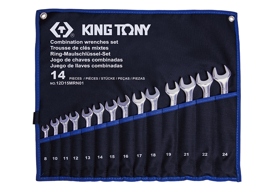 14 PC. Combination Wrench Set  KING TONY  12D15MRN01