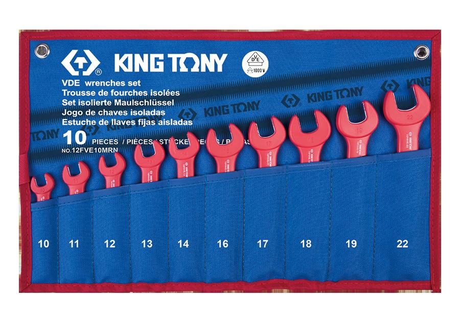 10件式 耐電壓單開口扳手組  KING TONY  12FVE10MRN, 永安實業工具購物網