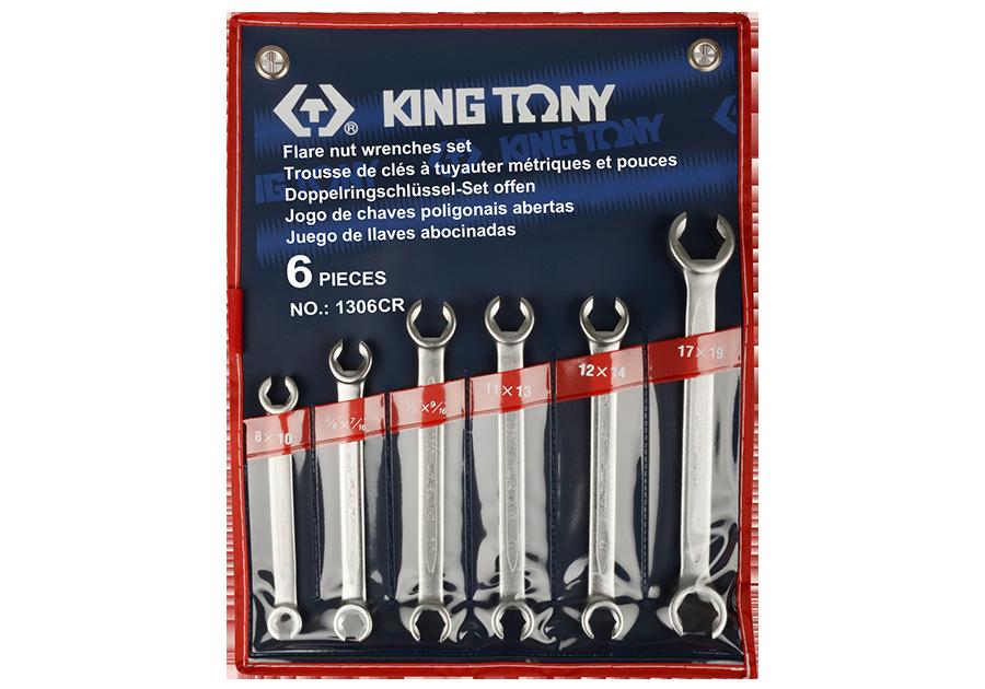 6件式 煞車油管扳手組 | KING TONY | 1306CR