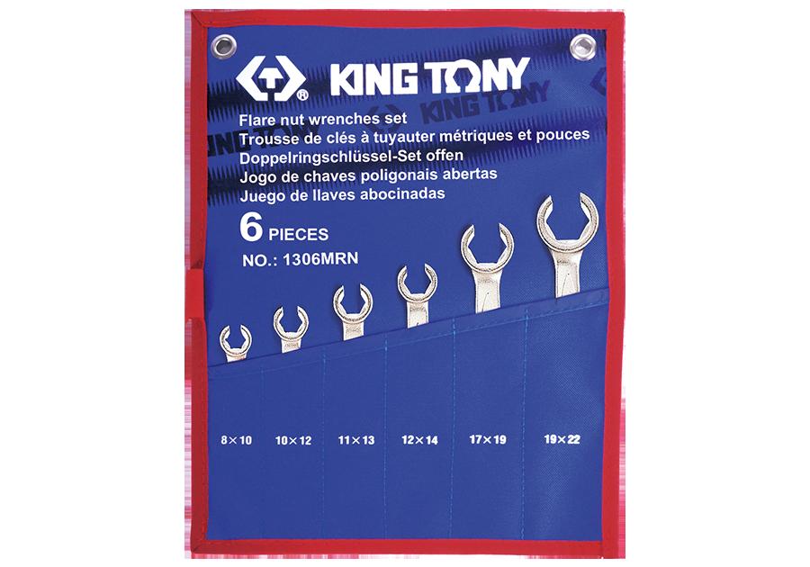 6件式 煞車油管扳手組 | KING TONY | 1306MRN