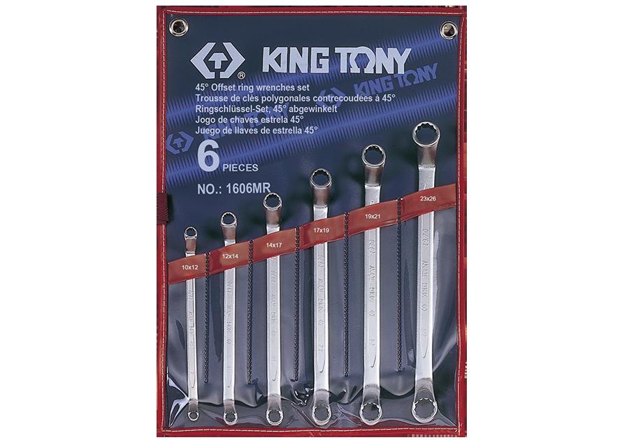 6件式 45°雙梅扳手組  KING TONY  1606MR, 永安實業工具購物網