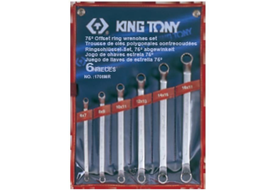 6件式 75°雙梅扳手組  KING TONY  1706MR, 永安實業工具購物網