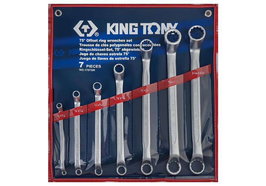 7件式 75°雙梅扳手組  KING TONY  1707SR, 永安實業工具購物網