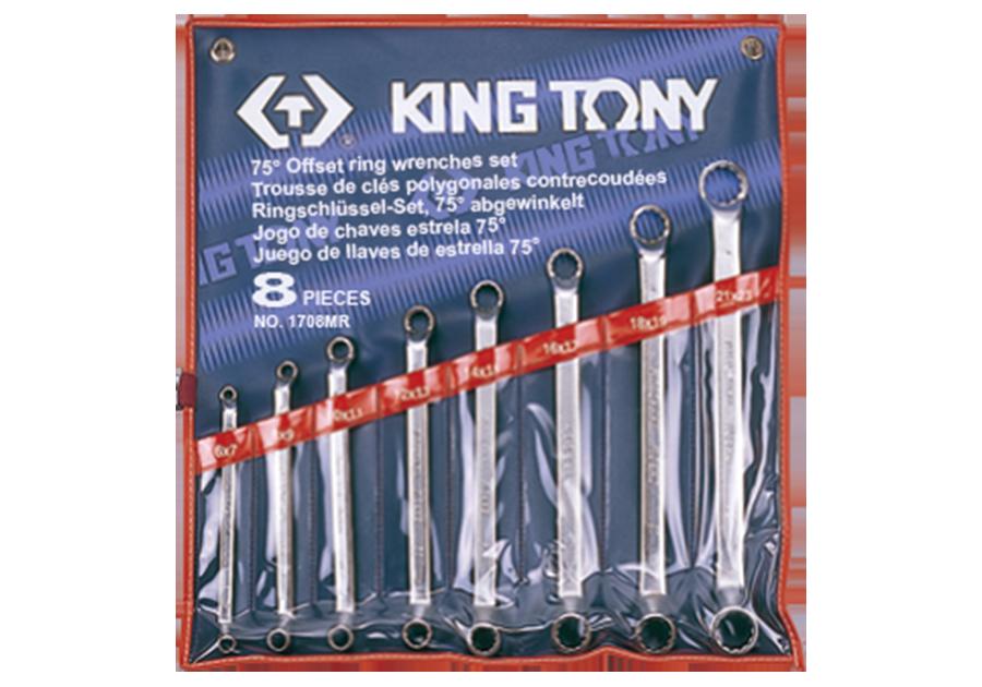 8件式 75°雙梅扳手組  KING TONY  1708MR, 永安實業工具購物網