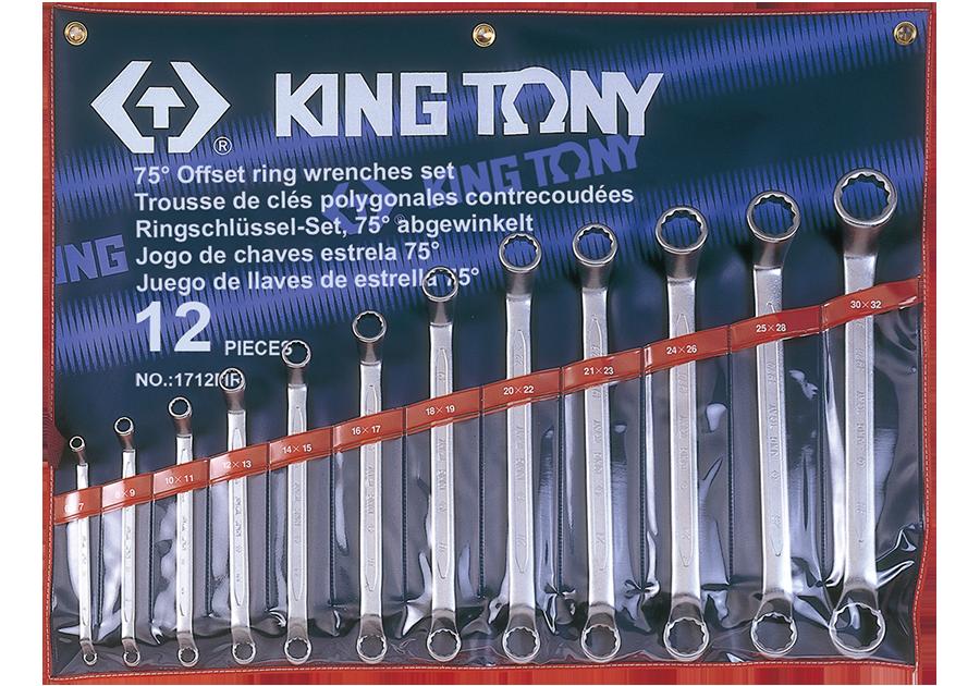 12件式 75°雙梅扳手組  KING TONY  1712MR, 永安實業工具購物網