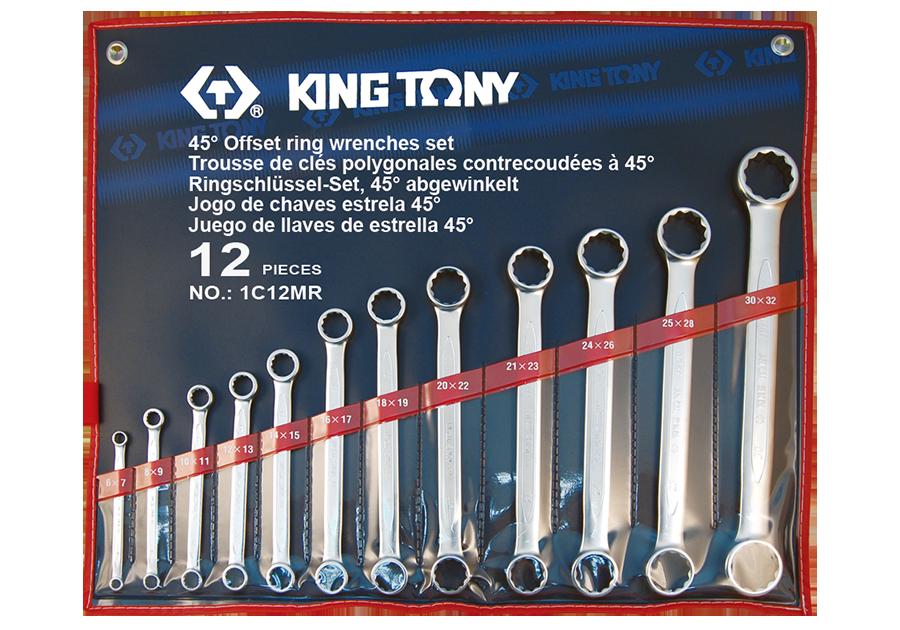 12件式 平雙梅花扳手組  KING TONY  1C12MR, 永安實業工具購物網