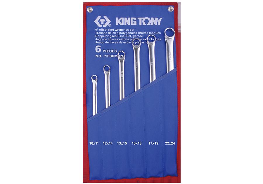 6件式 平面加長型雙梅扳手組  KING TONY  1F06MRN, 永安實業工具購物網