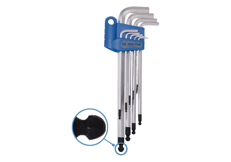 9件式 短頭球頭六角扳手組  KING TONY  201B09MR, 永安實業工具購物網