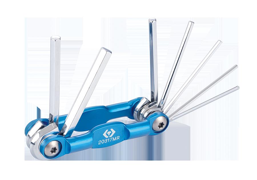 7件式 折疊式六角扳手組  KING TONY  20317MR, 永安實業工具購物網