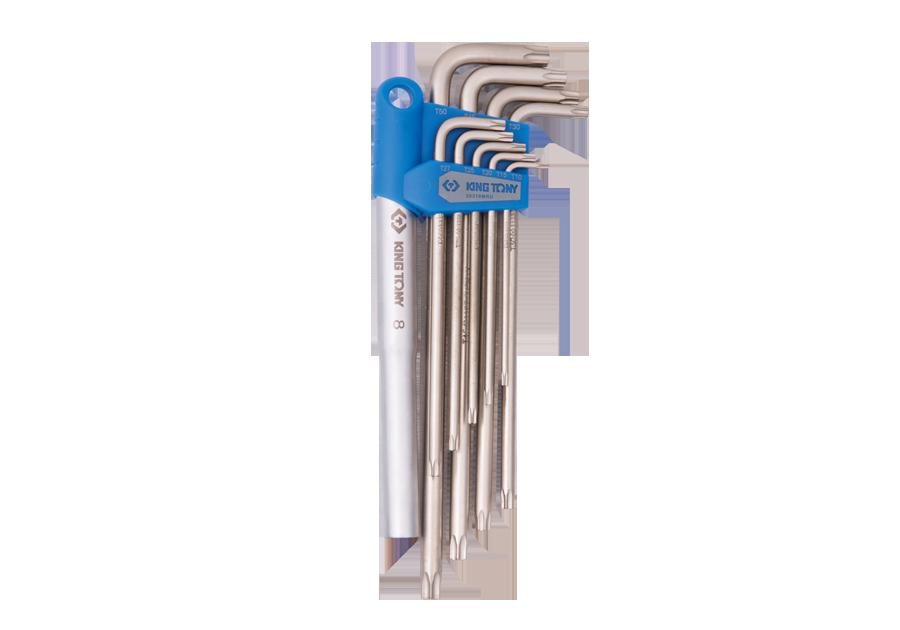 11件式 特長六角星型扳手組+施力桿  KING TONY  20319PRU, 永安實業工具購物網