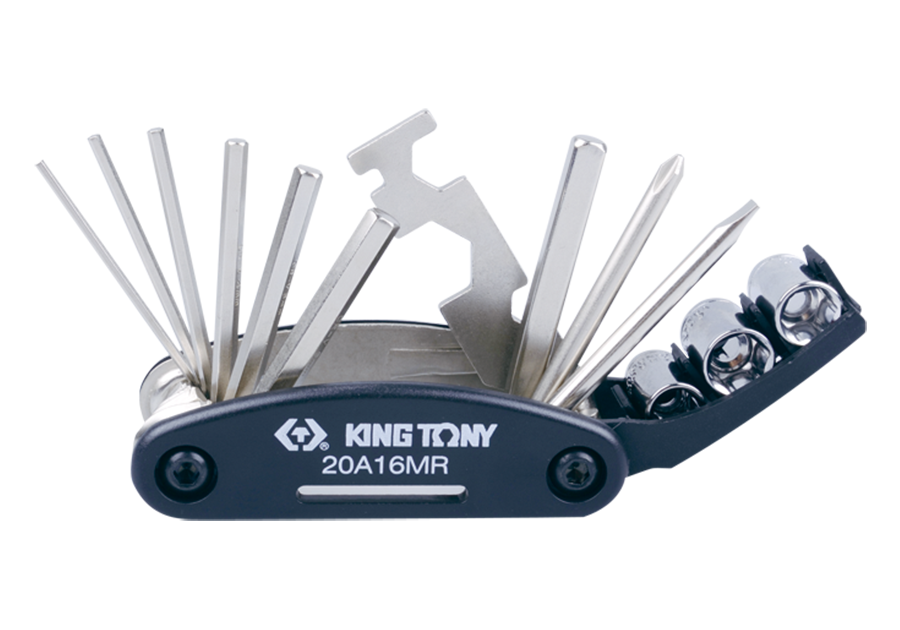 16件式 折疊式複合工具組  KING TONY  20A16MR, 永安實業工具購物網