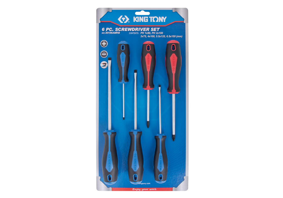 6 PC. Standard Screwdriver Set  KING TONY  30106AMRB