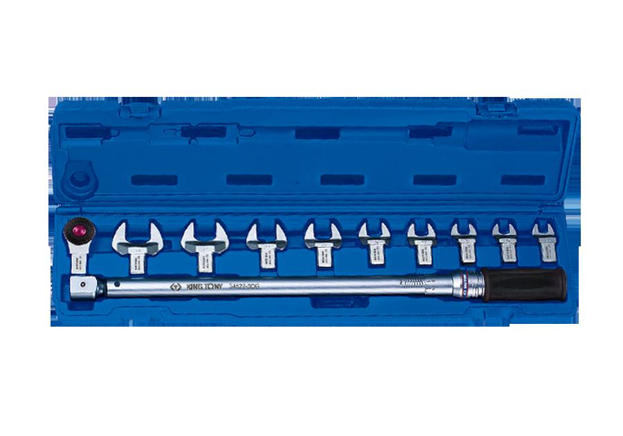 11件式 14x18更換式扭力扳手組套(15~80 ft.lb.)  KING TONY  345201E11MR, 永安實業工具購物網