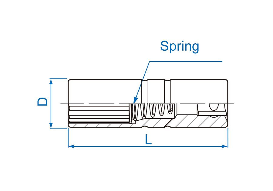 """3/8""""DR. 12PT Spring Spark Plug Socket"""