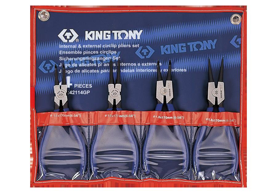4件式 扣環鉗組  KING TONY  42114GP, 永安實業工具購物網