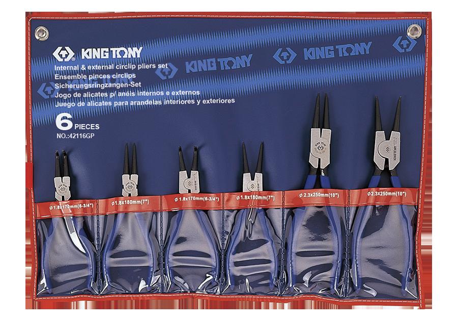 6件式 扣環鉗組  KING TONY  42116GP, 永安實業工具購物網