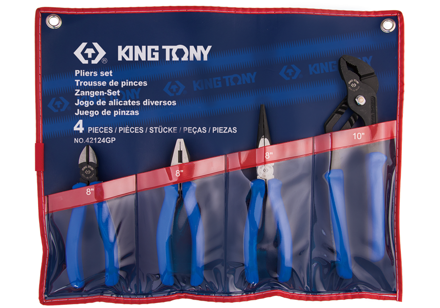 4件式 歐式鉗組 | KING TONY | 42124GP