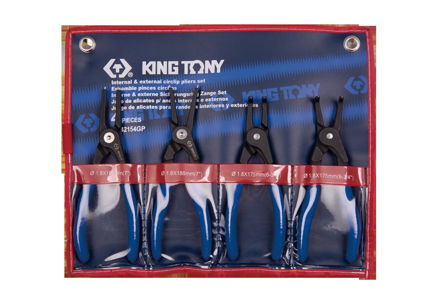 4件式 扣環鉗組  KING TONY  42154GP, 永安實業工具購物網