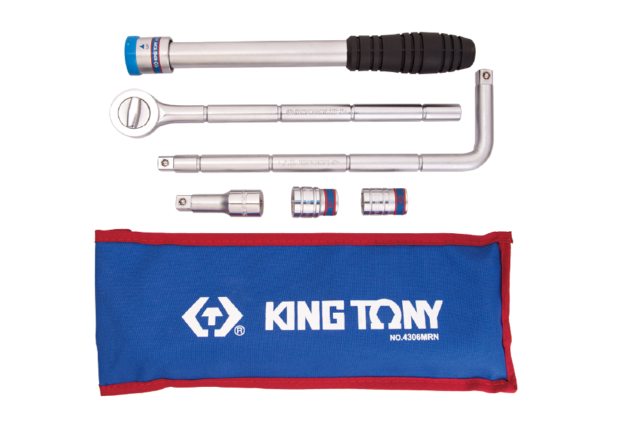 "6 PC. 1/2""DR. Adjustable Wheel Wrench Set  KING TONY  4306MRN"