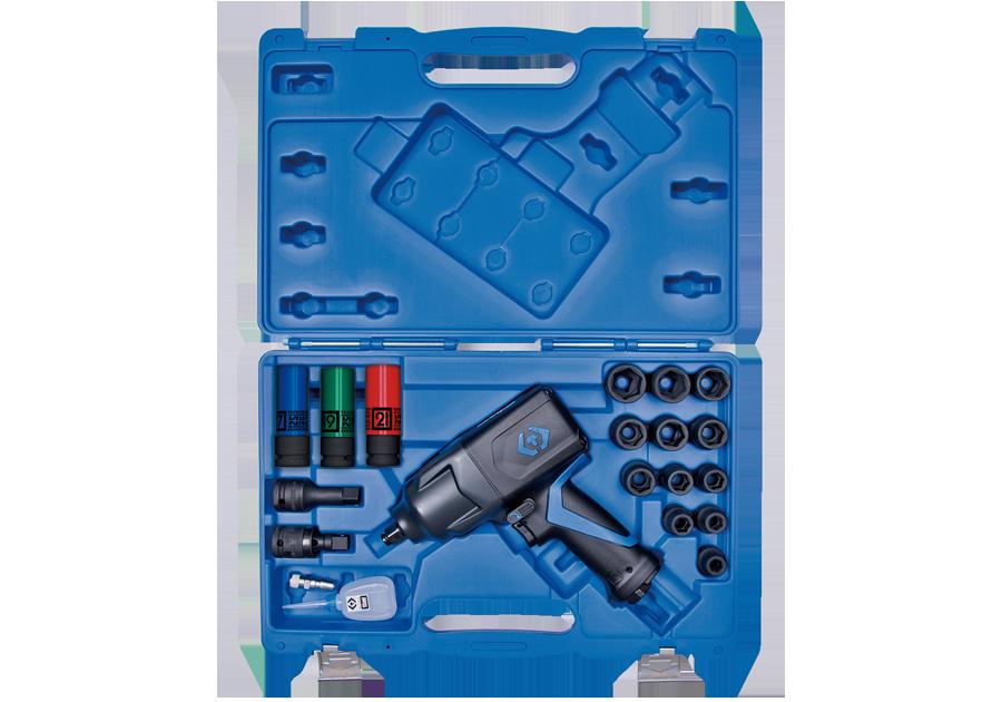 """19件式 1/2""""DR. 輕量化氣動扳手及套筒組  KING TONY  44801FMP, 永安實業工具購物網"""