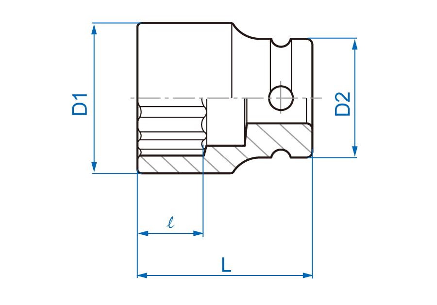 "1/2""DR. Impact Standard Socket"