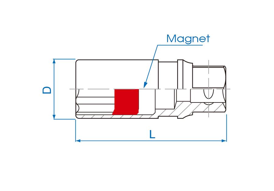 """1/2""""DR. 12PT Spark Plug Socket"""