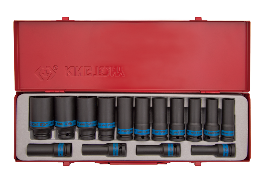 "15 PC. 1/2""DR. 12PT Impact Socket Set  KING TONY  4815MP05"