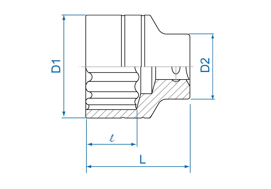 "3/4""DR. 12PT Metric Standard Socket"