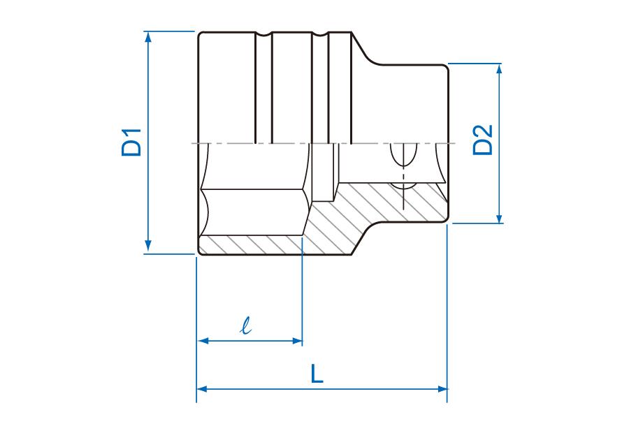 "3/4""DR. 6PT Metric Standard Socket"
