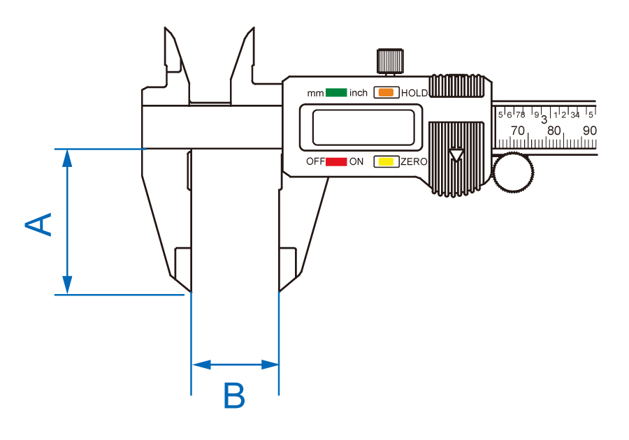 Open Slider Digital Calipers