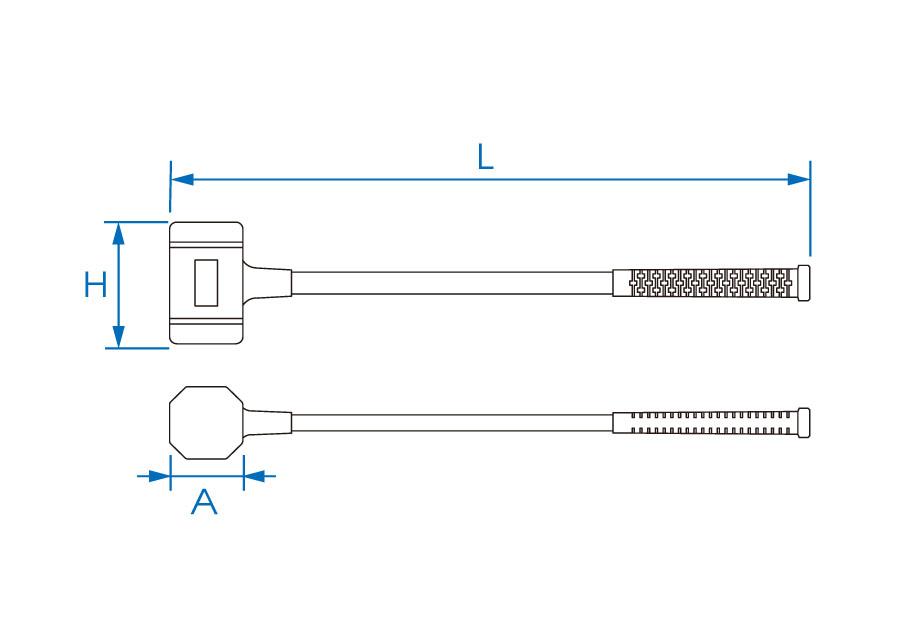 橡膠纖維鎚  KING TONY  7852, 永安實業工具購物網
