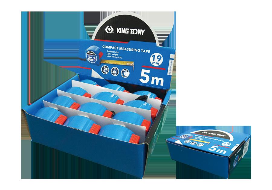 12件式 迷你磁性捲尺展示盒組  KING TONY  79095-05M-S, 永安實業工具購物網