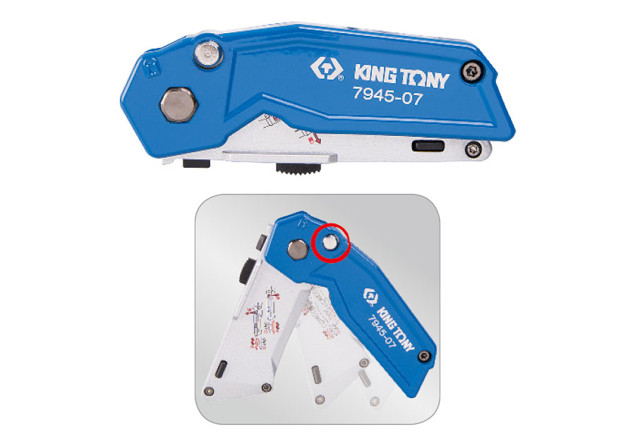 2-in-1 Folding Twin Blade Knife  KING TONY  7945-07