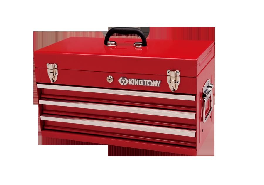 三抽屜手提式工具箱 鋼珠滑軌 內鎖頭  KING TONY  87401-3H, 永安實業工具購物網